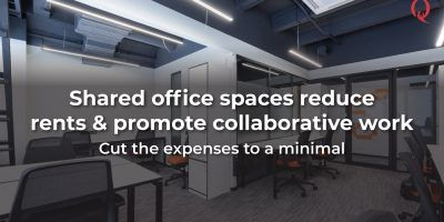 Sharing of office space to reduce rents and promote collaborative work environment | Qdesq