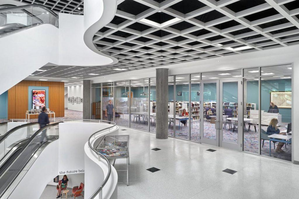 Richland Library, Downtown Columbia, South Carolina - coworking library - qdesq