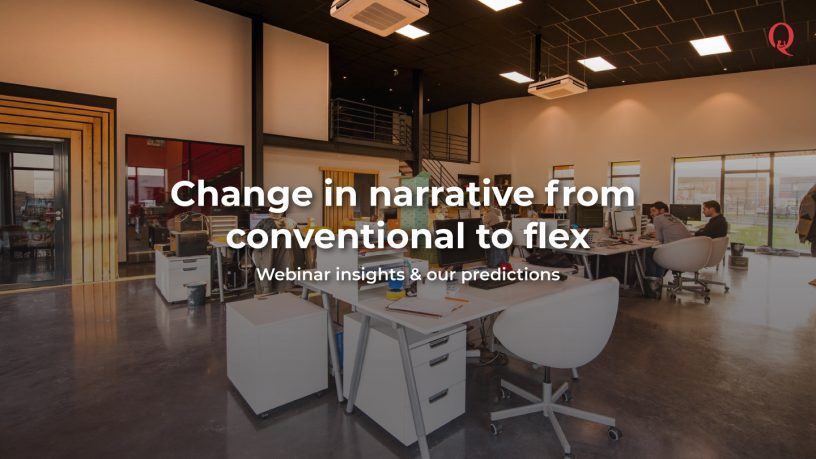 Change in narrative from conventional to coworking real estate - Qdesq